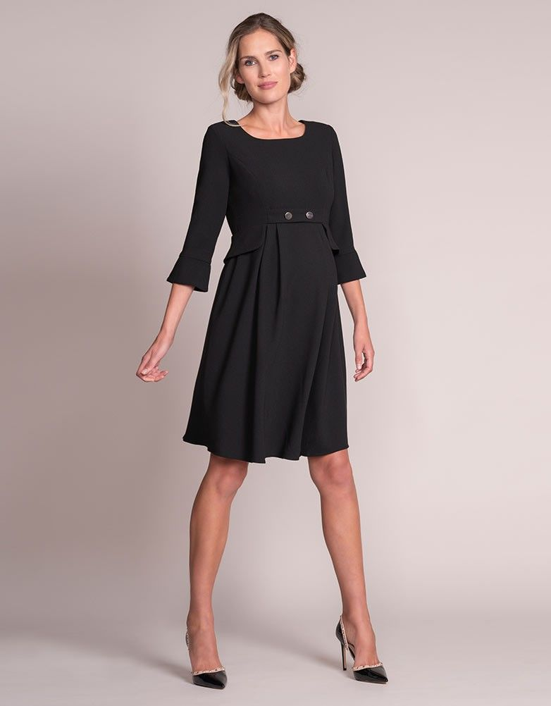 0cf473f331c Black Tailored Maternity Dress in 2019