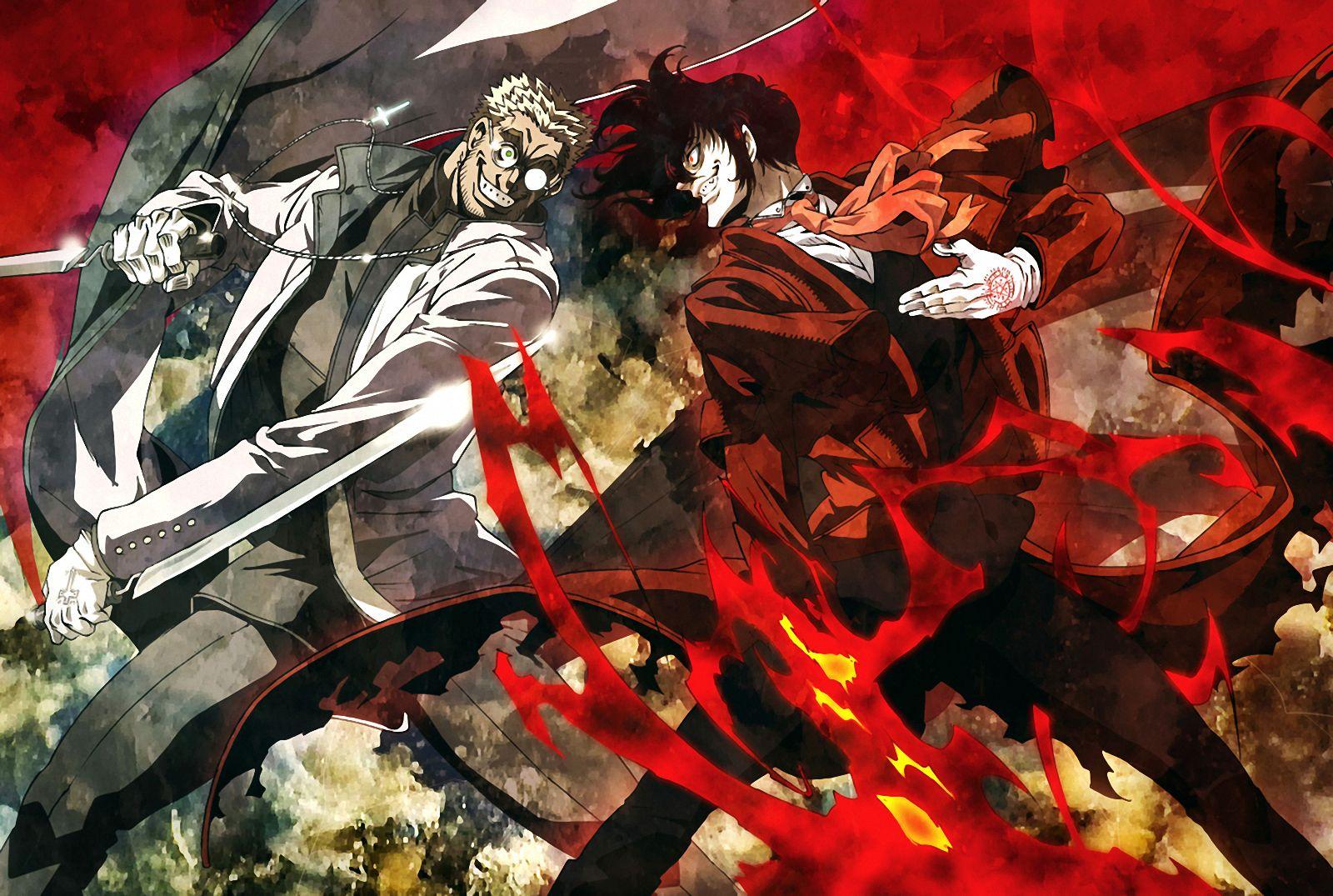 Hellsig Ultimate Alexander Anderson Vs Alucard イラスト 神父