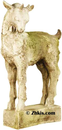 Outdoor Billy Goat Statue A Great Piece For The Garden Or Country Home Decor You Would Be Nice Farm Acreage Made From Durable Fiber Stone
