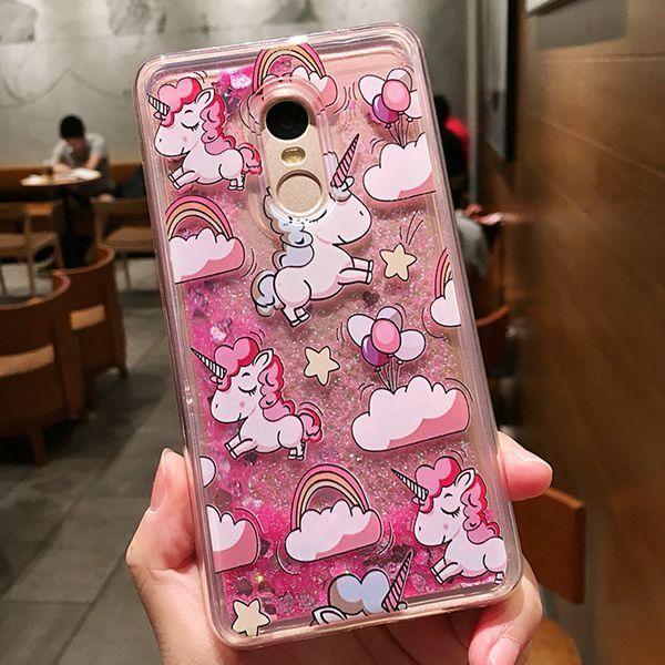 quality design 22392 6a341 Girls quicksand liquid glitter case for xiaomi redmi note 4x 4 x ...