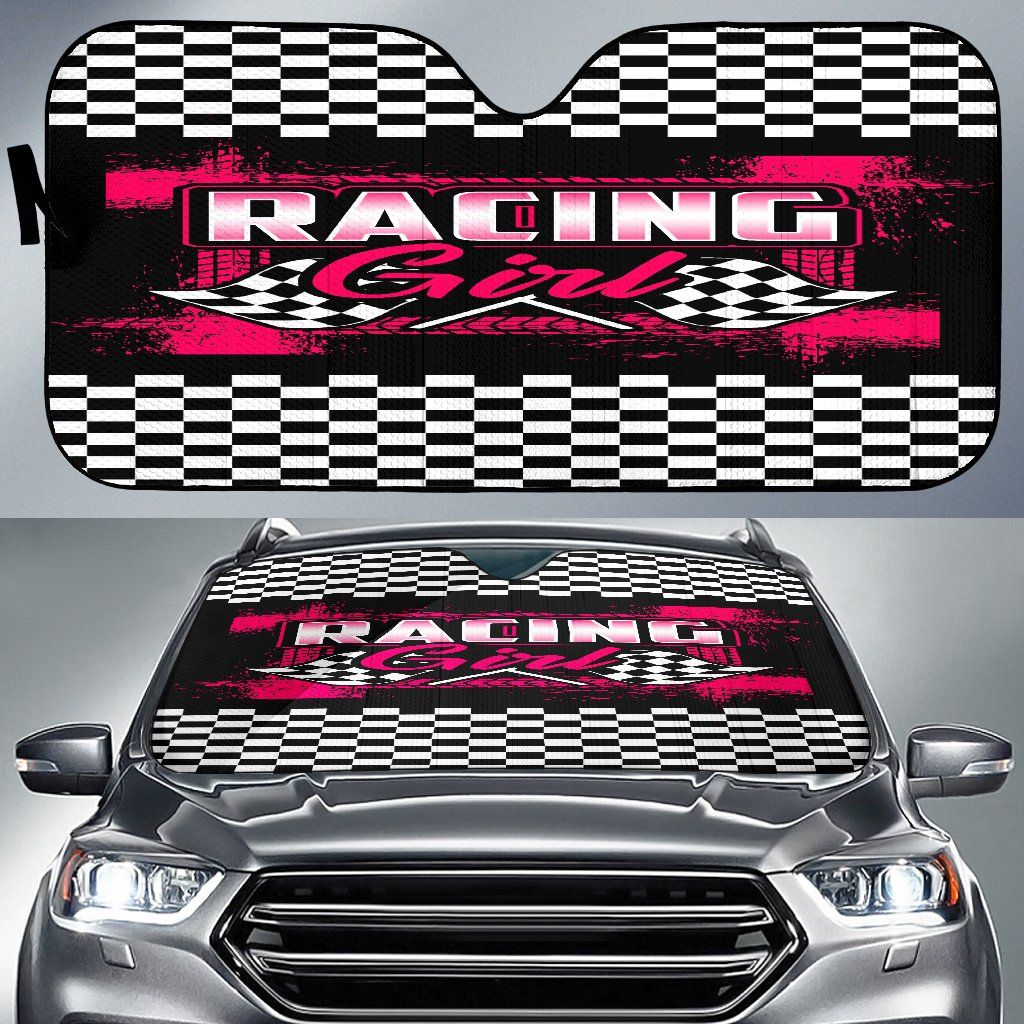 Racing Girl Auto Sun Shade With FREE SHIPPING! in 2020