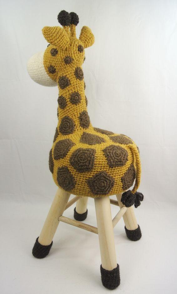 Dieren Kruk Haken Giraffe Haakpret Crochet