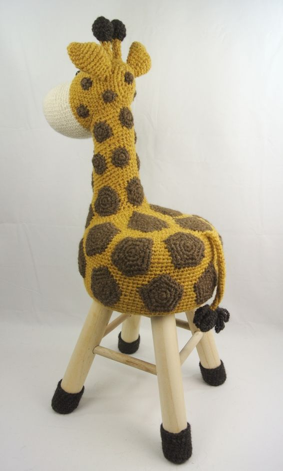 Dieren Kruk Haken Giraffe Patronen Uncinetto Sgabelli E Sedie
