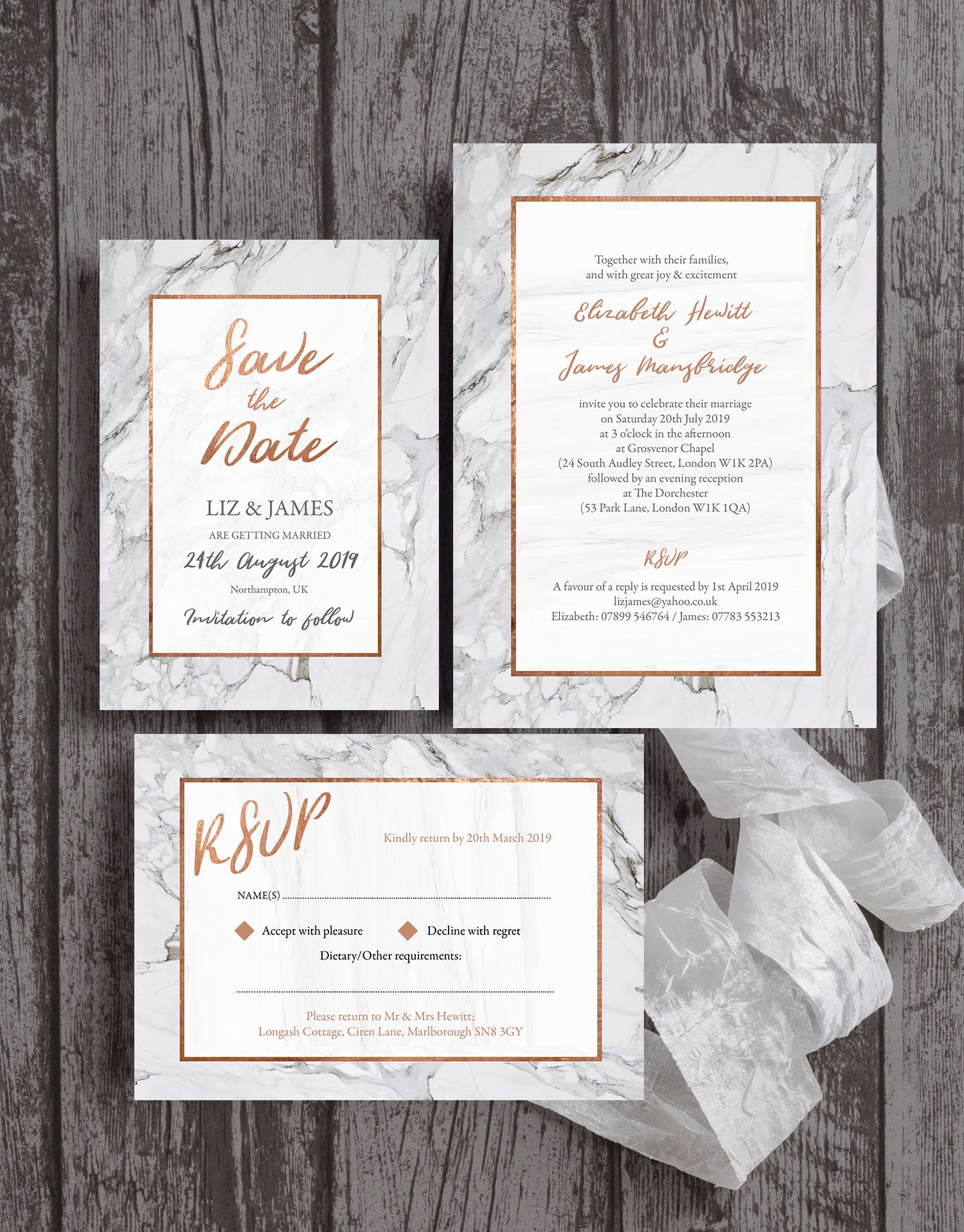 beautiful grey / silver marble with copper faux foil details and ...