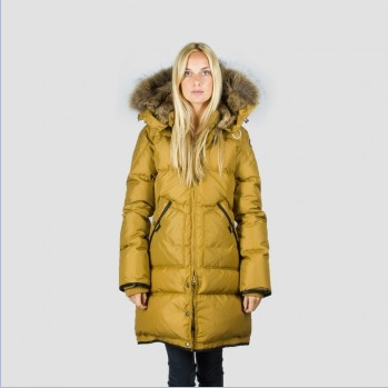 Womens Mustard Parka Coat