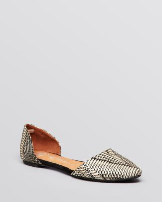 851996446b Jeffrey Campbell Pointed Toe D'Orsay Flats - In Love | shoes ...