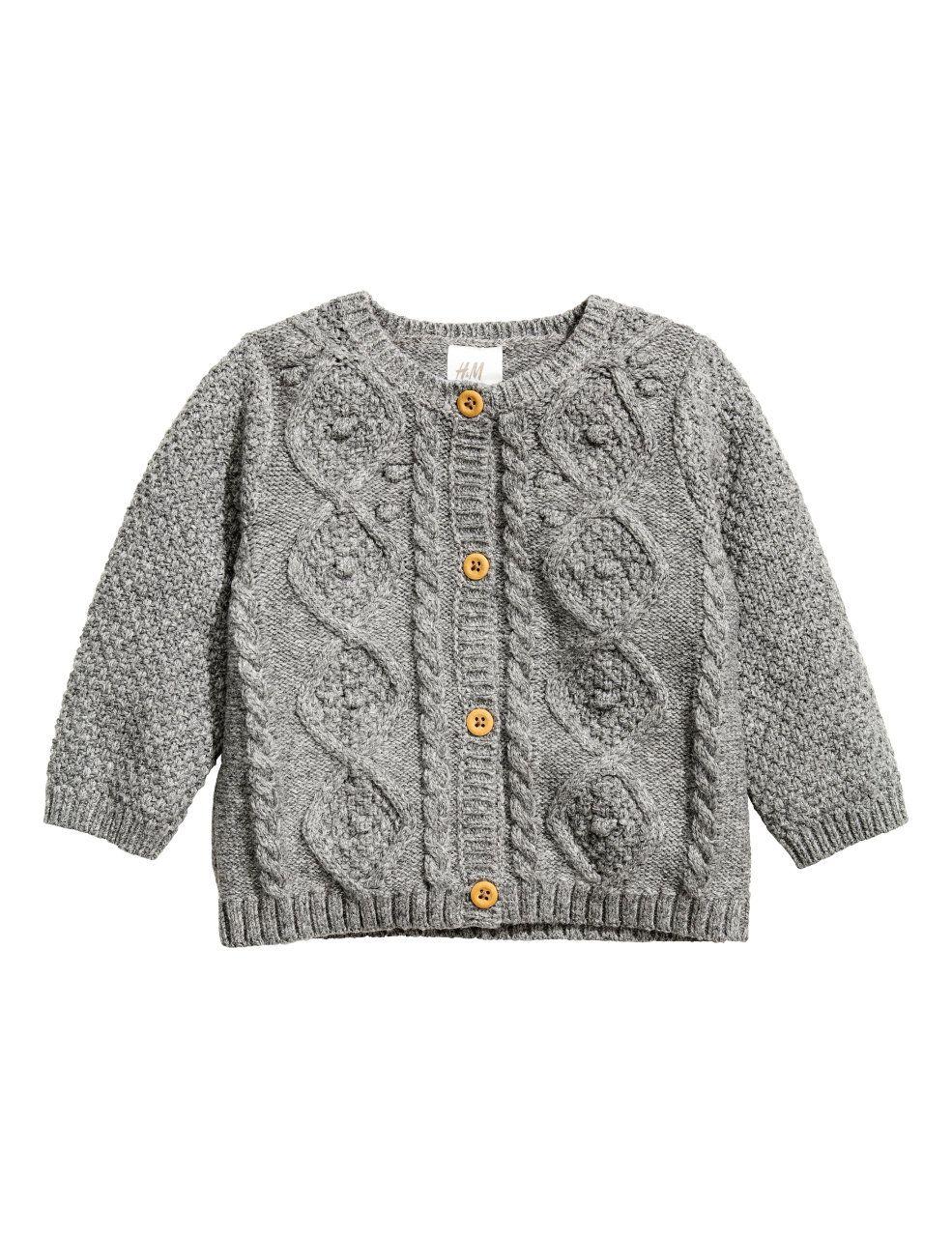 Cable-knit Cardigan   Gray melange   Kids   H&M US   Madeline ...