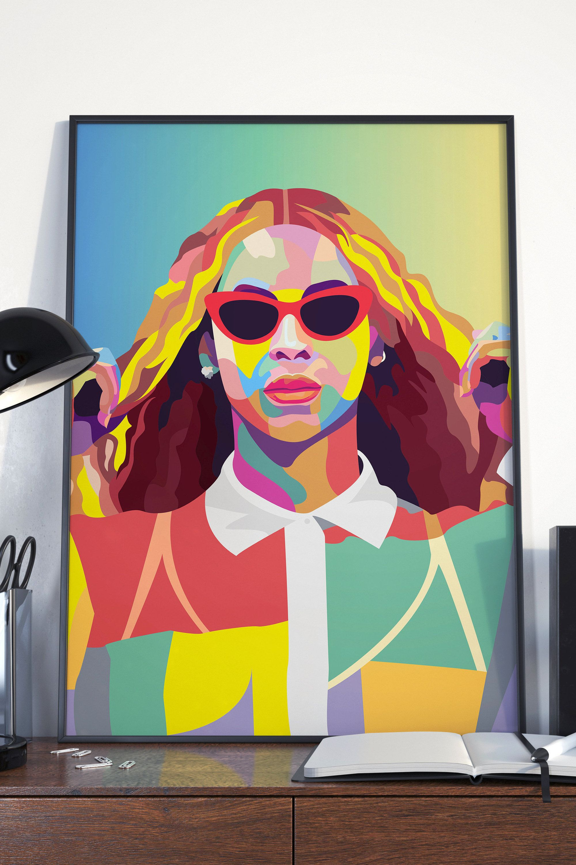 Beyonce Inspired Music Poster A3 Art Print 11 X17 Pop Art Music Icon Wall Art Fan Art Portraits Gifts Pop Art Portraits Jobs In Art Pop Art Illustration