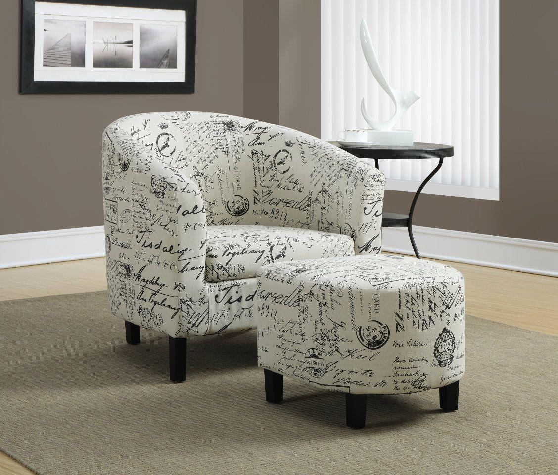 Decouvrez Le Produit Chaise D Appoint Monarch 014441 Disponible Chez Surplus Rd Ca Chair And Ottoman Set Accent Chairs For Living Room Fabric Accent Chair