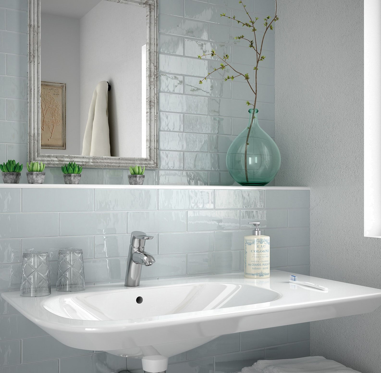 Country\' Tile Collection from Equipe in Ash Blue available from all ...