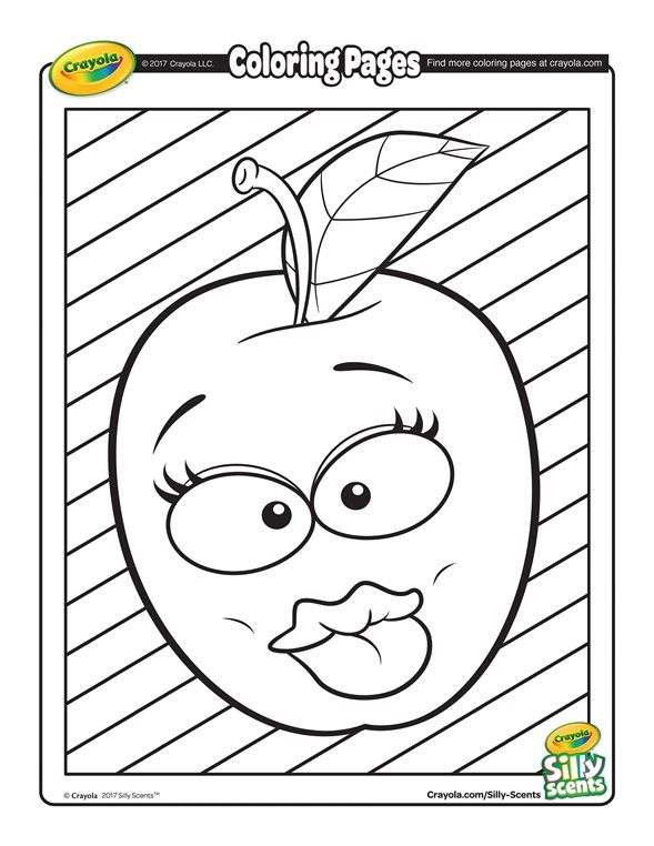 Silly Scents Apple Coloring Page Crayola Coloring Pages Apple Coloring Pages Coloring Pages