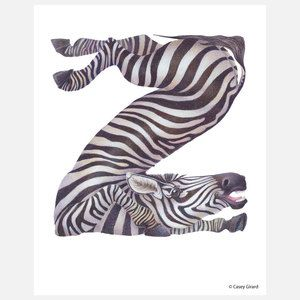Z Is For My Granddaughter S Name Z Is For Zebra Now Featured On Fab