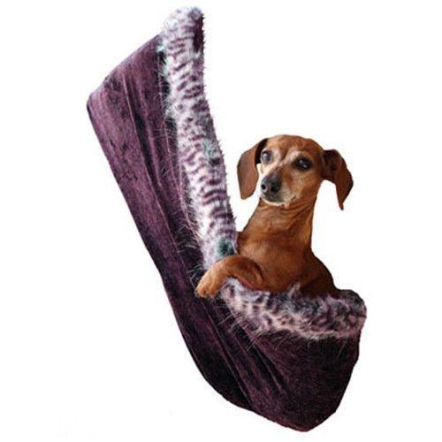 Eggplant Velour Puppy Hold'em Sling Dog Carrier