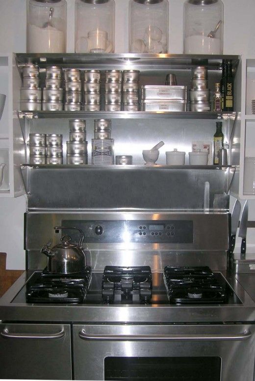 Using Over The Range Stainless Steel Shelves To Store Your