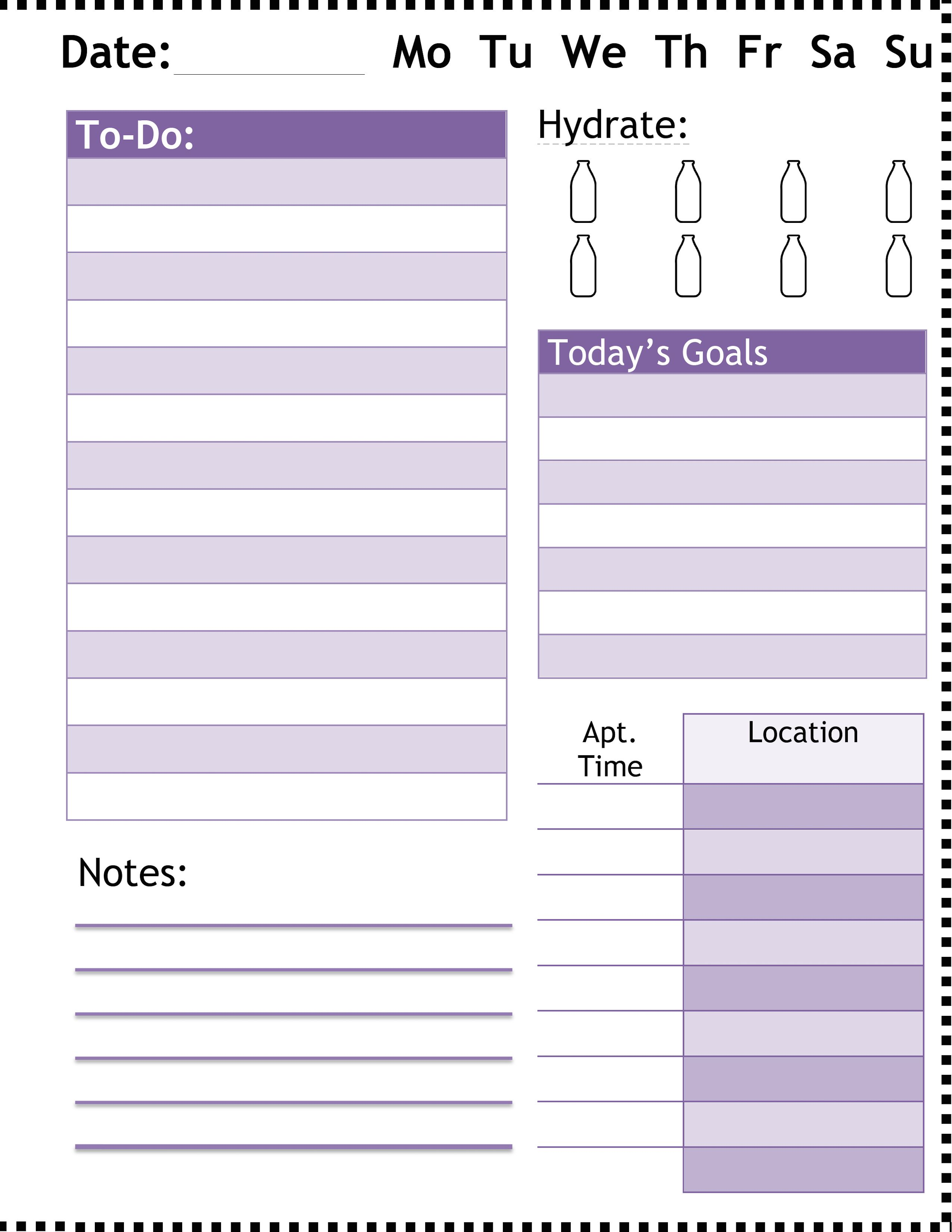 microsoft word planner docx planners inspirations pinterest