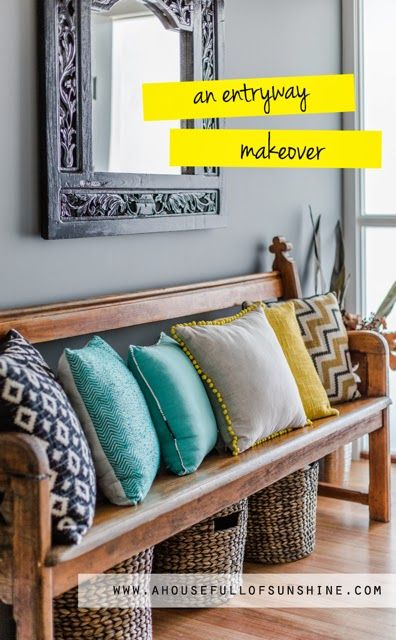 A house full of sunshine: How to refinish a mirror (and an Entryway makeover!)