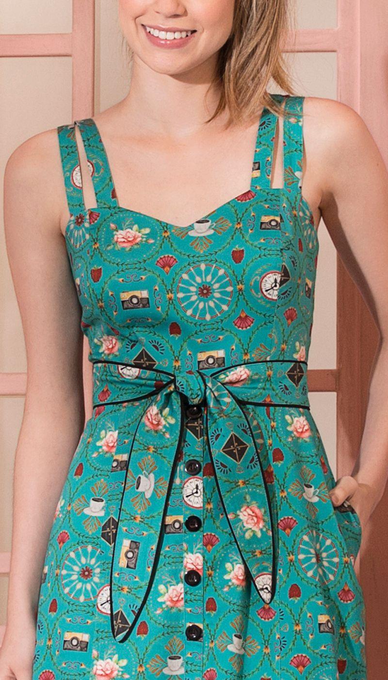 8eaf820838ef Vestido Midi Amelie Verde | Antix | ❤My Style❤ | Vestidos básico ...