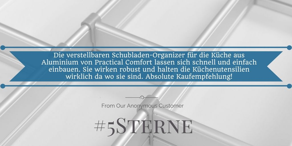 Check It Out Another 5starreview For The Adjustabledrawerorganizer From A Happy Customer Inn Germany Viele Drawer Organisers Happy Customers Organization