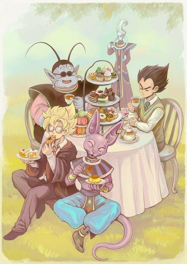 Goku Eating King Kai