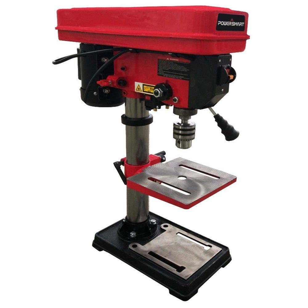 Powersmart 10 In 12 Speed Drill Press With Laser Guide Speed Drills Drill Press Drill