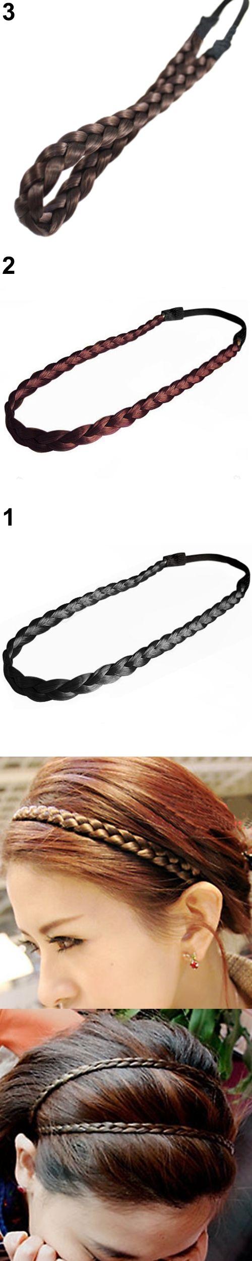 Hot 4 Colors Braided Stretch Elastic Hair Band Headband Barrette Sticker Accessories 5bpu 7ecb Pinterest Bands