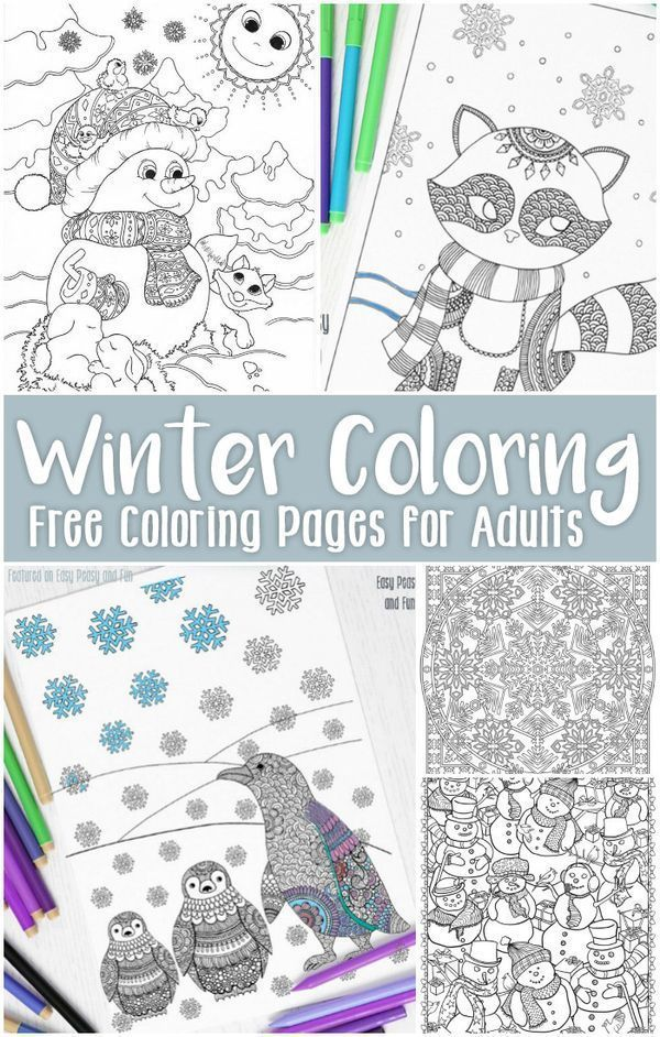 Free Printable Winter Coloring Pages for Adults | Free printable ...