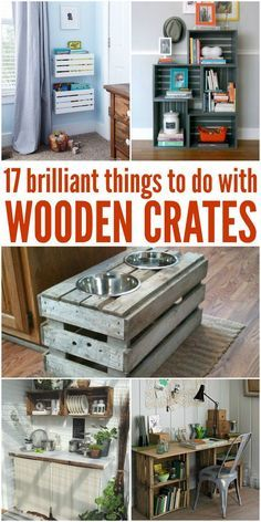 I didn't know you could do so many awesome things with wooden crates! -One Crazy House
