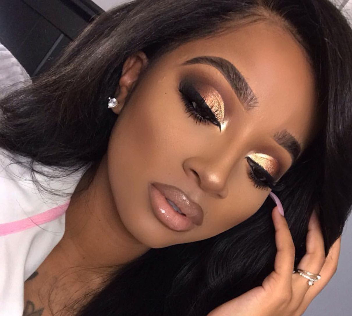 Makeup for black women (With images) Prom makeup looks
