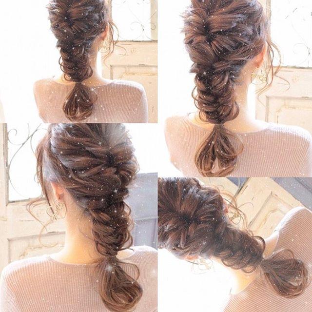 フィッシュボーンで Hair Arrange 美容師 ヘア