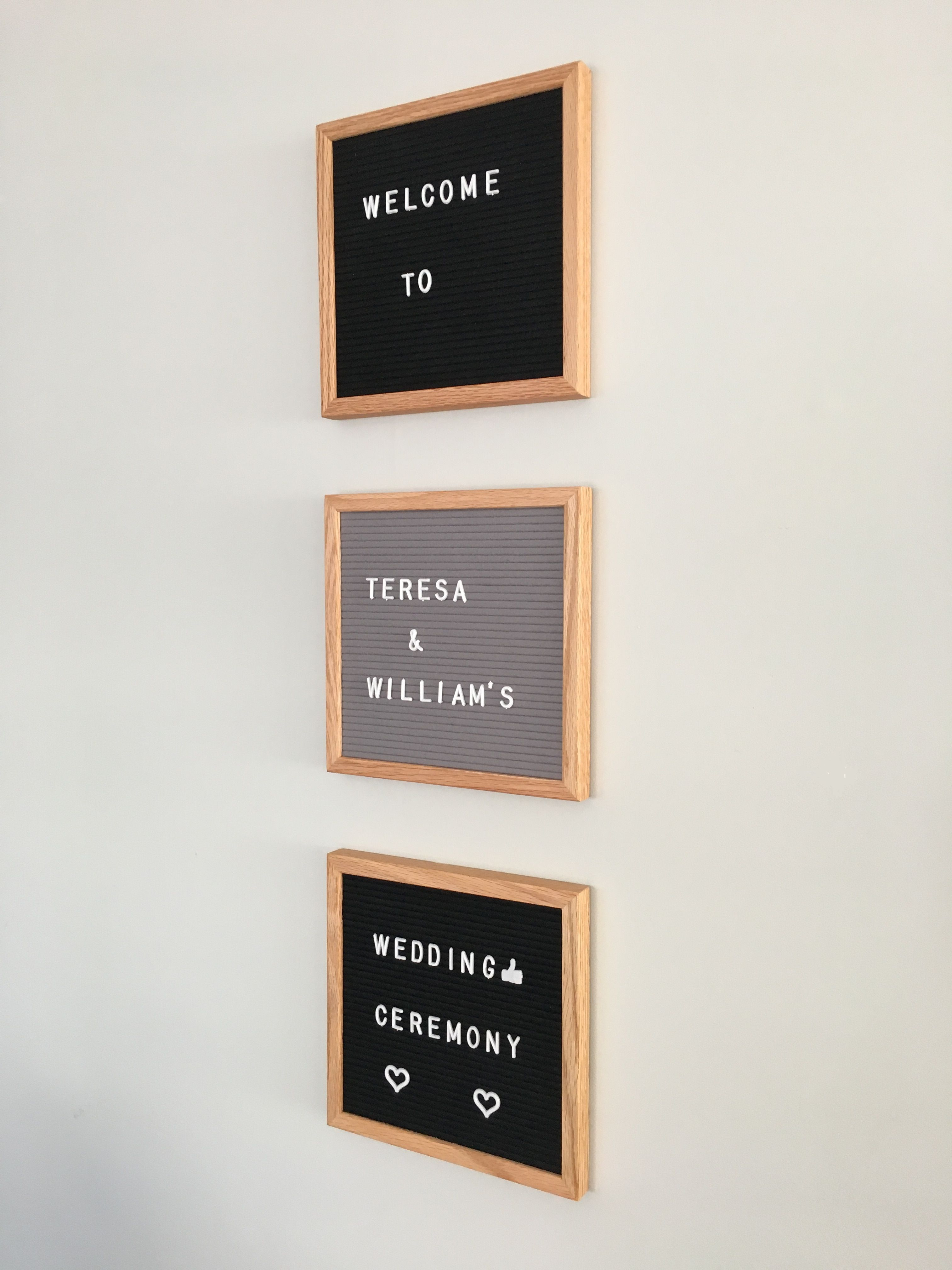 Felt Letter Board 10 By 10 For Wedding Decor Event Planning