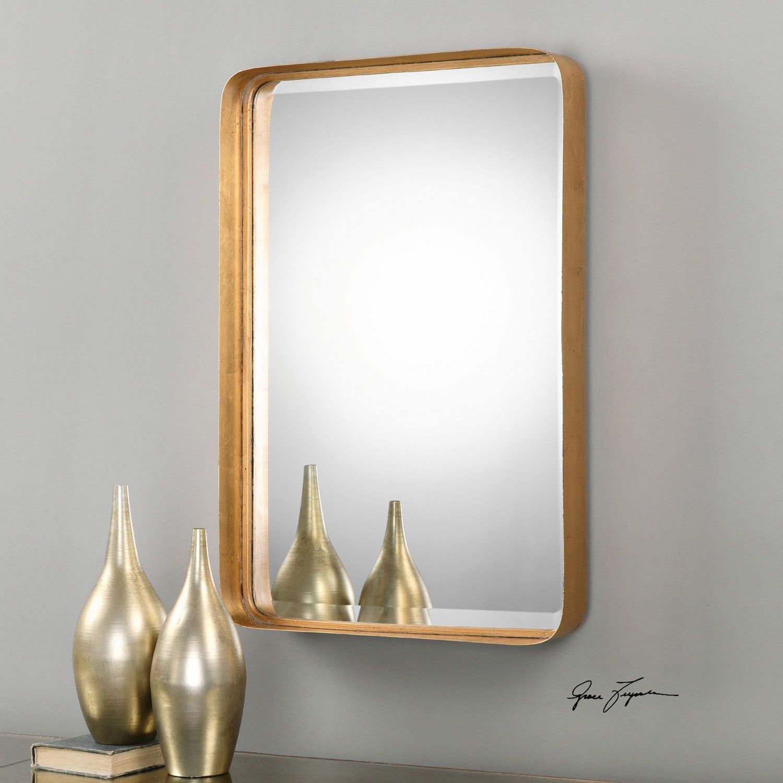 Uttermost Crofton Antique Gold Mirror Bathroom