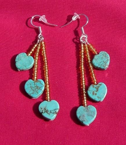 Must See These in Action Turquoise Sterling Silver Earrings Native American | eBay