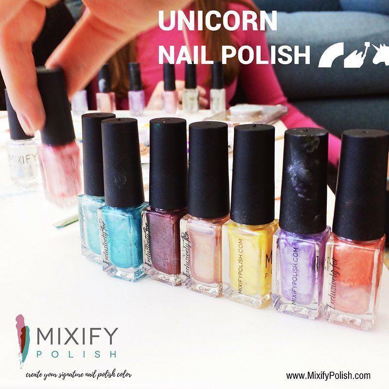 """Mixify Polish on Twitter: """"Unicorn rainbow nail polish⠀🌈🦄❤💜💚💙💛🖤💖 ⠀ ⠀ #MixifyPolish #rainbow #unicorn #gift #nailstagr… https://t.co/AhERvtPNdk https://t.co/CVr3SPCMxR"""""""