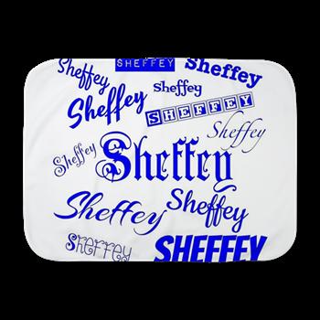 Royal Blue Sheffey Fonts - 9576 Baby Blanket