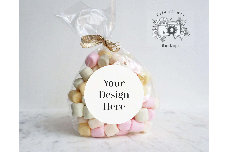 Sticker Mockup Round Label Mock Up Wedding Gift Bag Jpeg 436644 Household Design Bundles In 2020 Wedding Gift Bags Round Labels Wedding Gifts