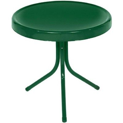 Lb International 20 Retro Tulip Outdoor Patio Side Table Green