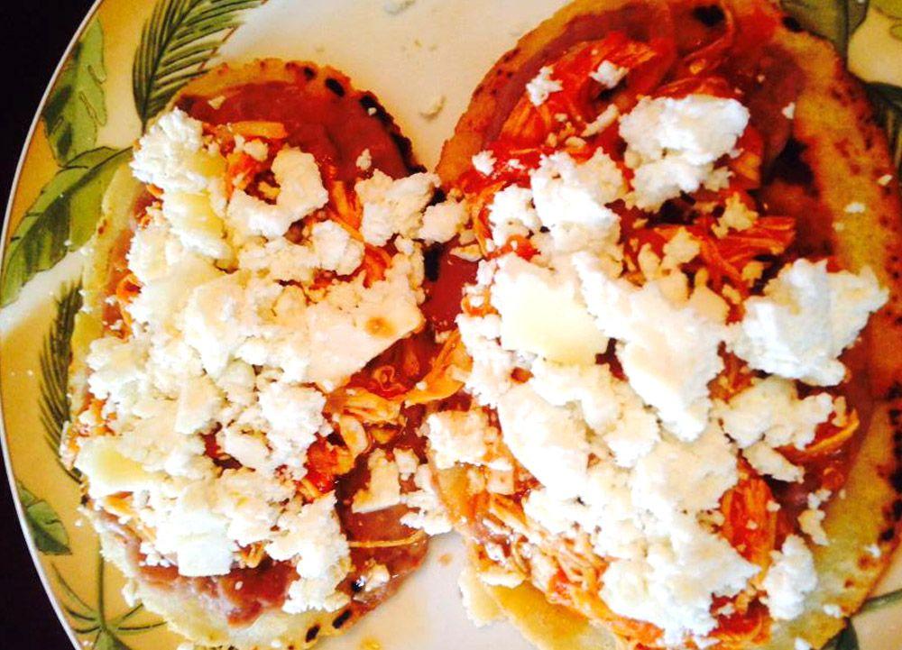 Receta de huaraches con tinga de pollo  Recetas Mexicanas