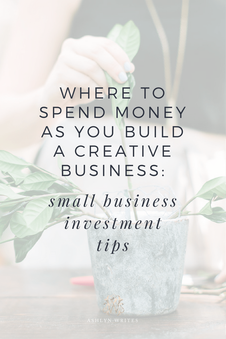 Where to spend money as you build a creative business small business ...