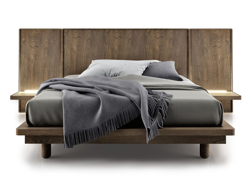 SURFACE Bed with integrated nightstands Surface