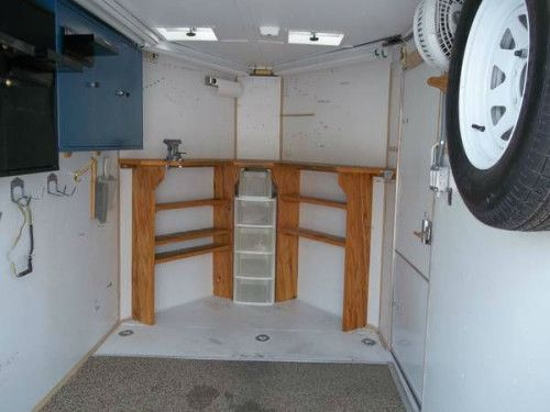 enclosed trailer cabinets v nose images | lc | pinterest
