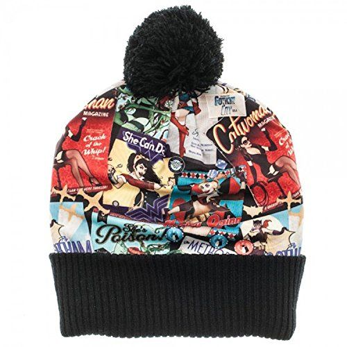 DC Comics Bombshells Over Print Pom Beanie Knit Costume Hat ** Read more reviews of the product by visiting the link on the image.
