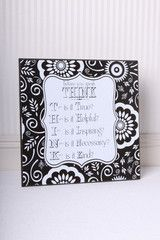 Mother's Day Gift Idea -Think Before You Speak Sign Mom's rules!