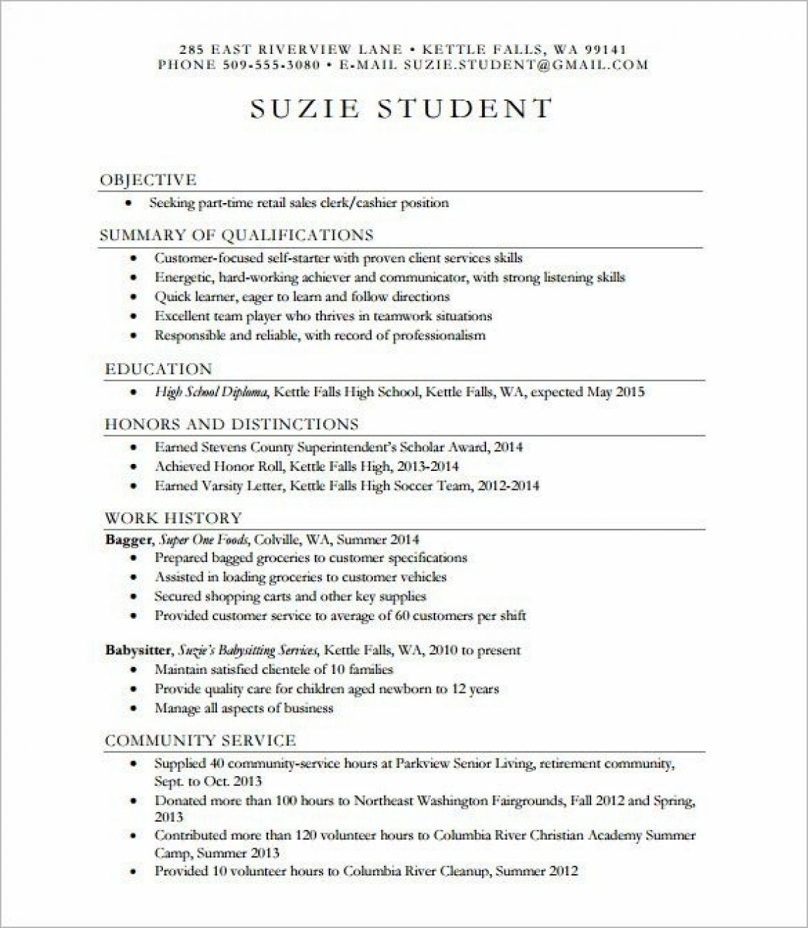 40 Resume Examples For Highschool Students In 2020 High School