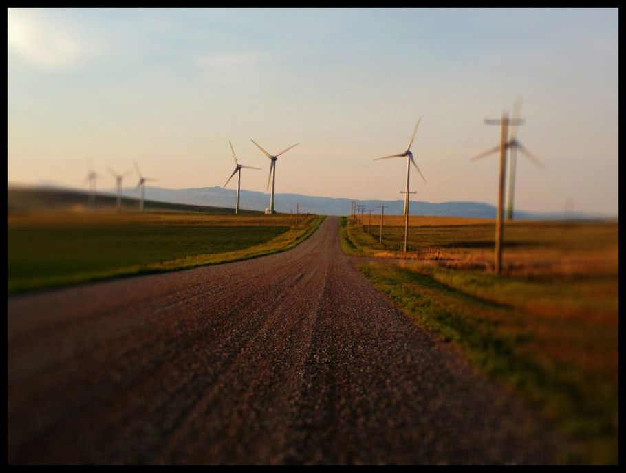 sunset, canadian rockies, agriculture, agriculture in motion, iPhone Location Snaps, iPhone 4S, iPhoneography, southern alberta, landscape, gravel road, wind farm, wind turbines, gravel road