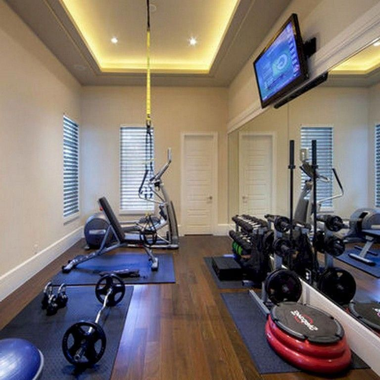 Basement With Low Ceilings Gym Room At Home Home Gym Decor Small Home Gyms
