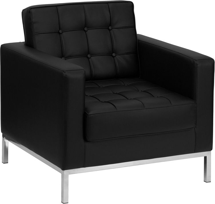Hercules lacey series contemporary black leathersoft chair