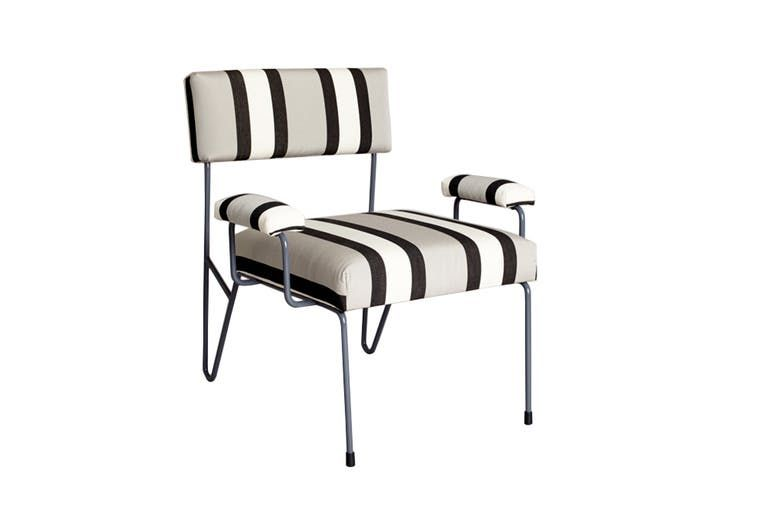 Alex Outdoor Lounge Chair Contemporary MidCentury Modern Metal Upholstery Fabric By Heather Ashton Design