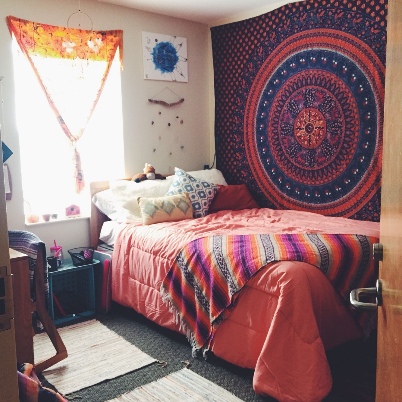 Decorating Ideas > My Dorm At UNCW Comforter From Target, Baja Blanket From  ~ 120034_Dorm Room Ideas Target