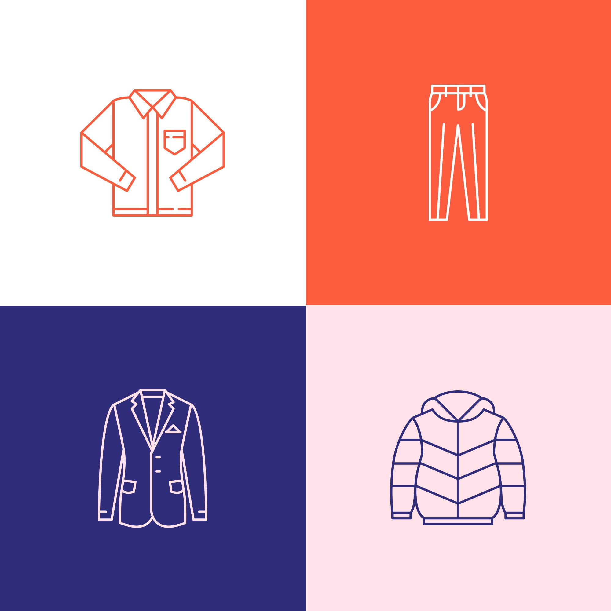 Online Clothes Shopping Icons Set Made By Istar Design Series Of 100 Vector Line Icons Created By Influence In 2020 Web Design Quotes Web Design Services Web Design