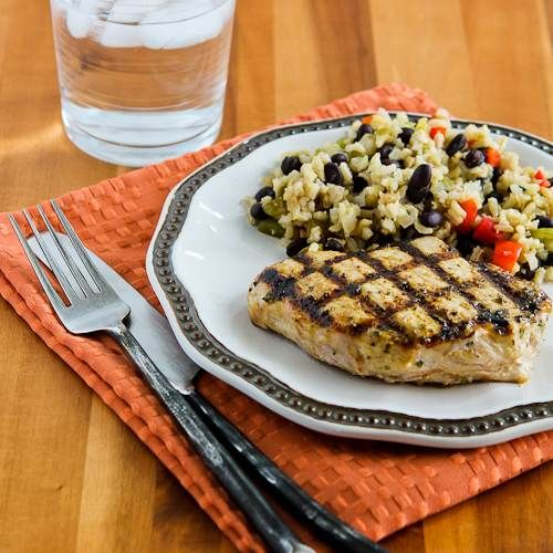 Grilled Pork Chops With Soy Sauce, Cumin, Lime, And
